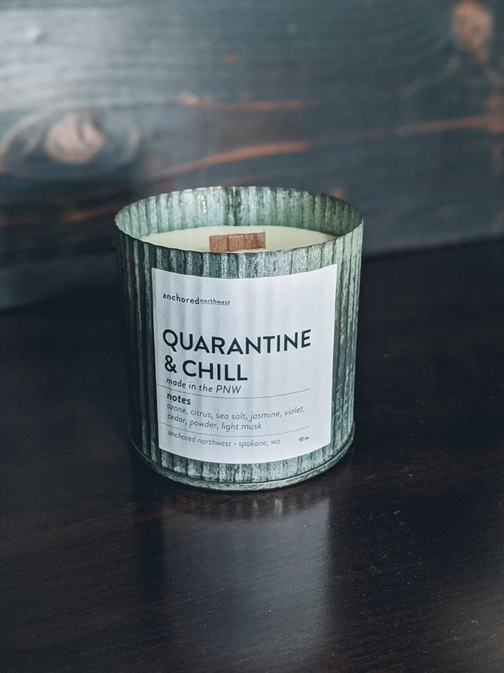 Quarantine And Chill Candle Anchored Northwest