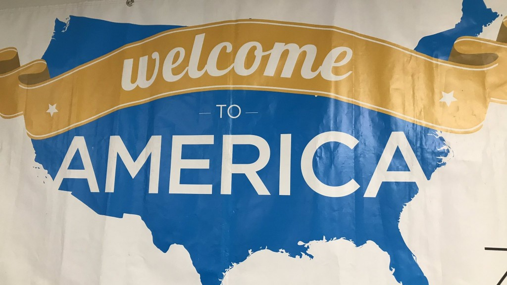 World Relief Welcome To America sign