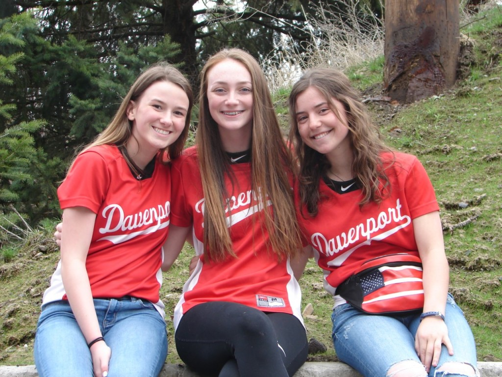 Three Davenport Senior softball players were nominated for Senior Night