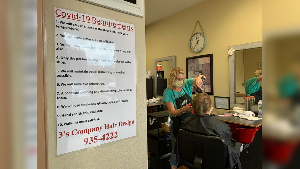 3's Company Hair Design salon with covid-19 rules