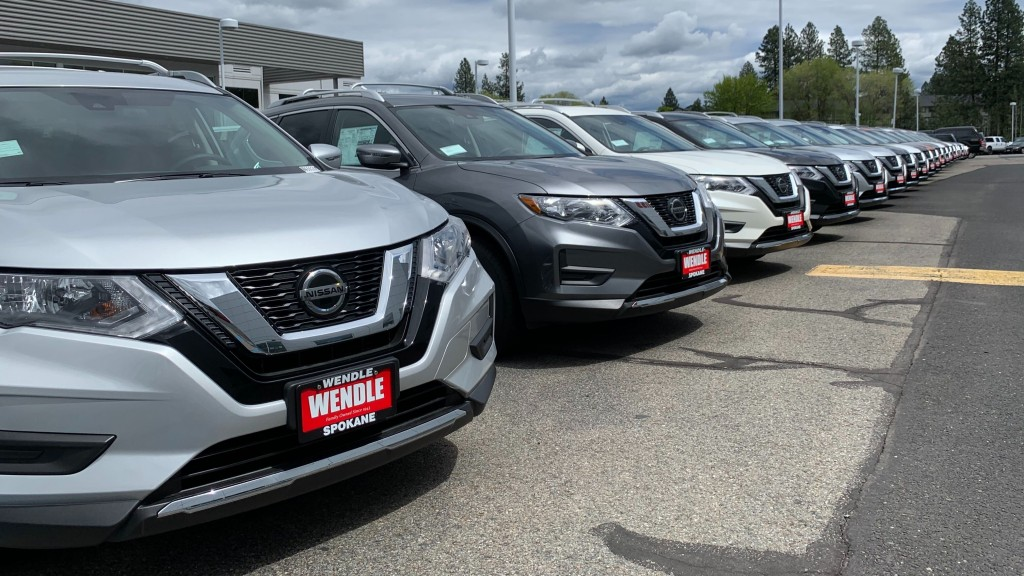 Row of cars at Wendle Motors