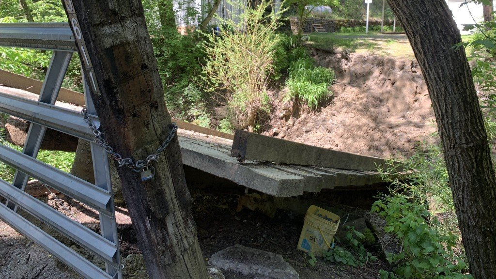 North Spokane woman's bridge collapses