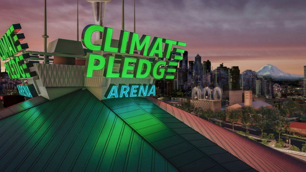 NHL Seattle announced the name of their new facility as the Climate Pledge Arena Thursday