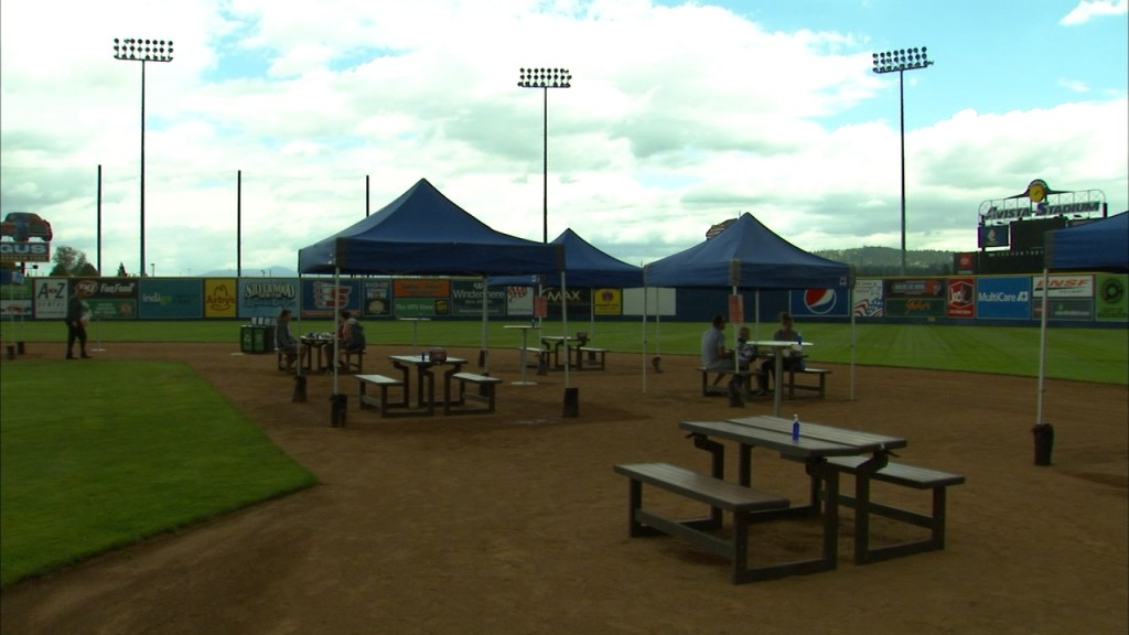 The Spokane Indians opened up the Infield Cafe allowing fans to eat on the infield at award winning Avista Stadium