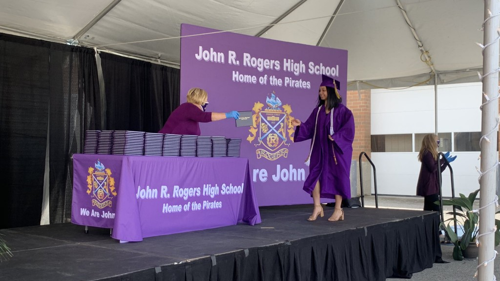 Rogers High School Drive Thru Graduation