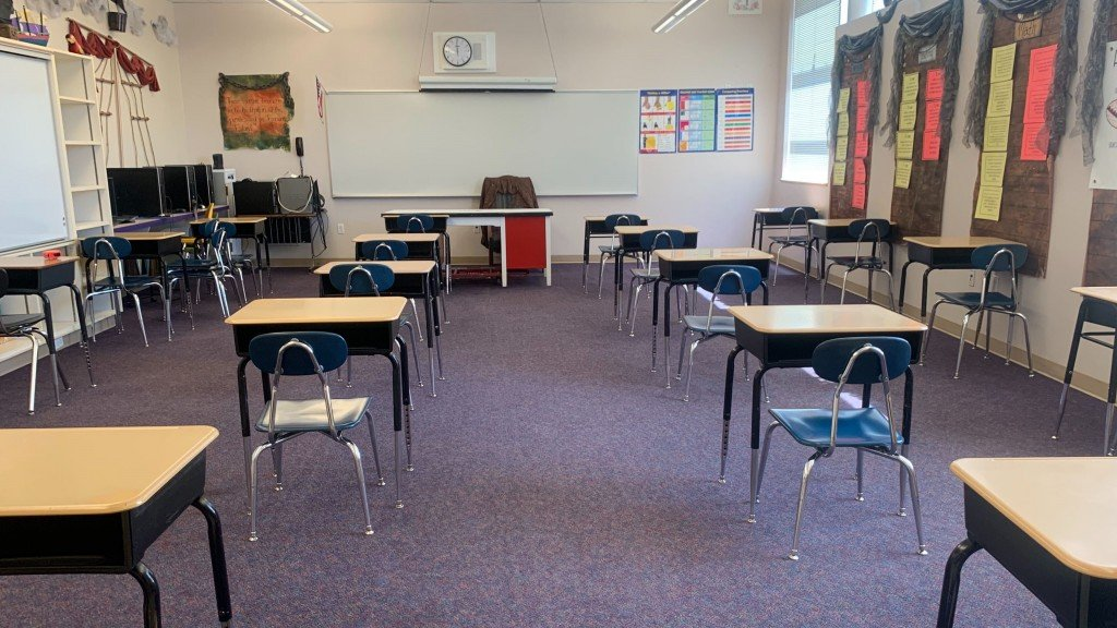 East Valley School District socially distanced classroom