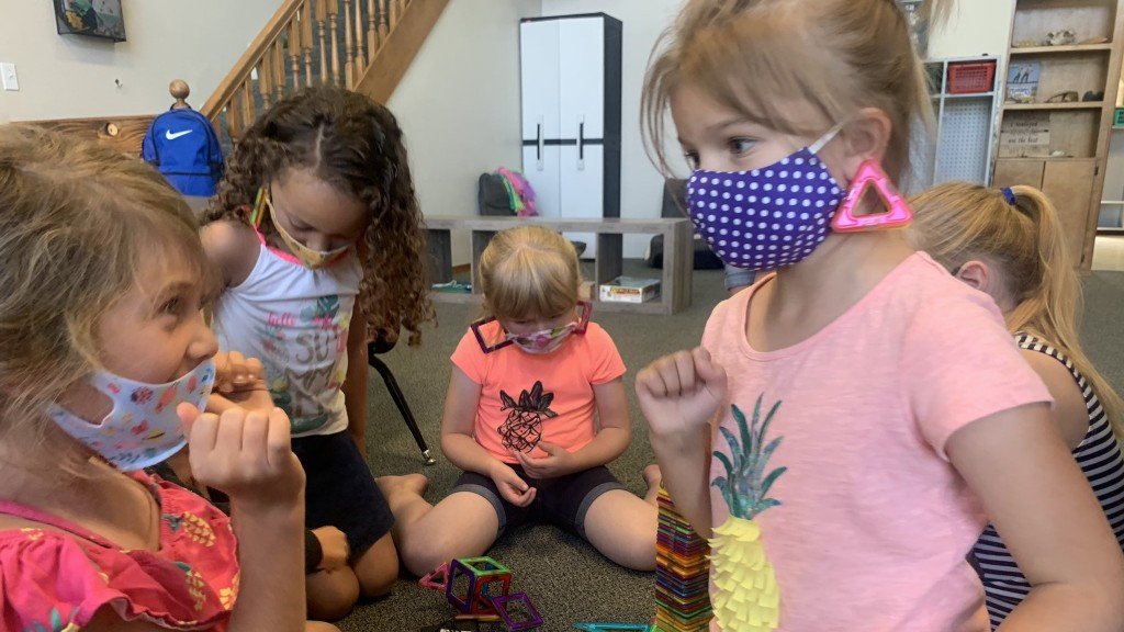 Kids Wearing Masks In Child Care