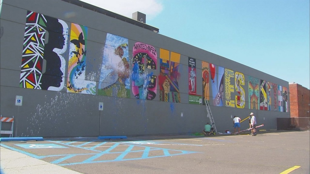 BLM mural vandalized