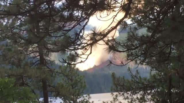 Video Shows Fire Burning Near Spirit Lake