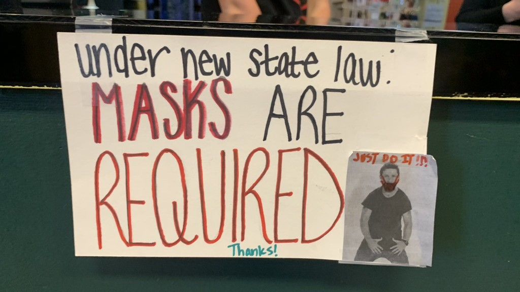 Masks Are Required sign