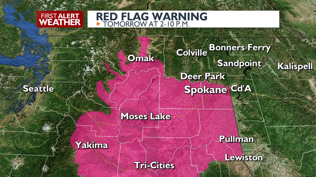Red Flag Warning August 10
