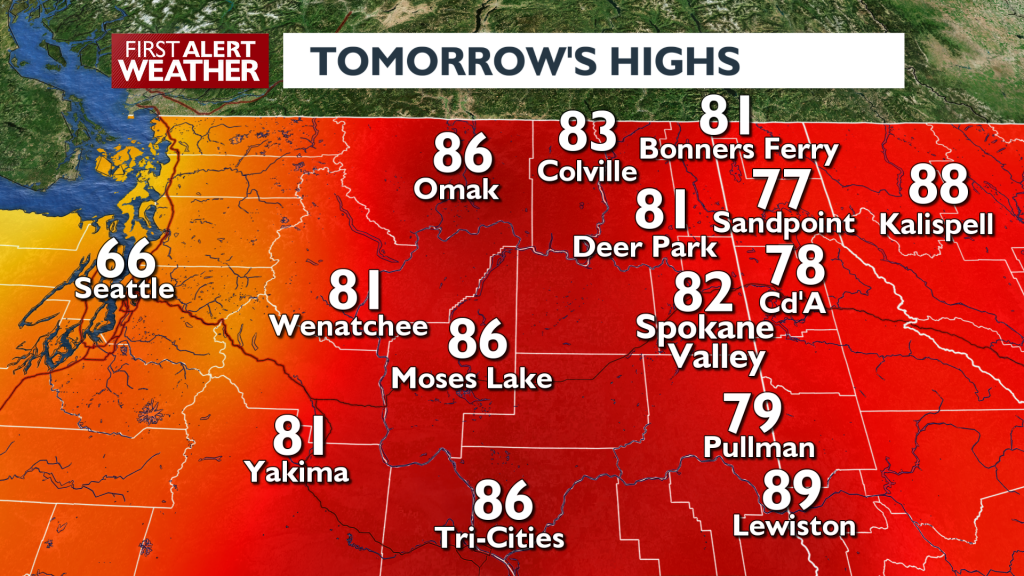 Tomorrows Highs August 5