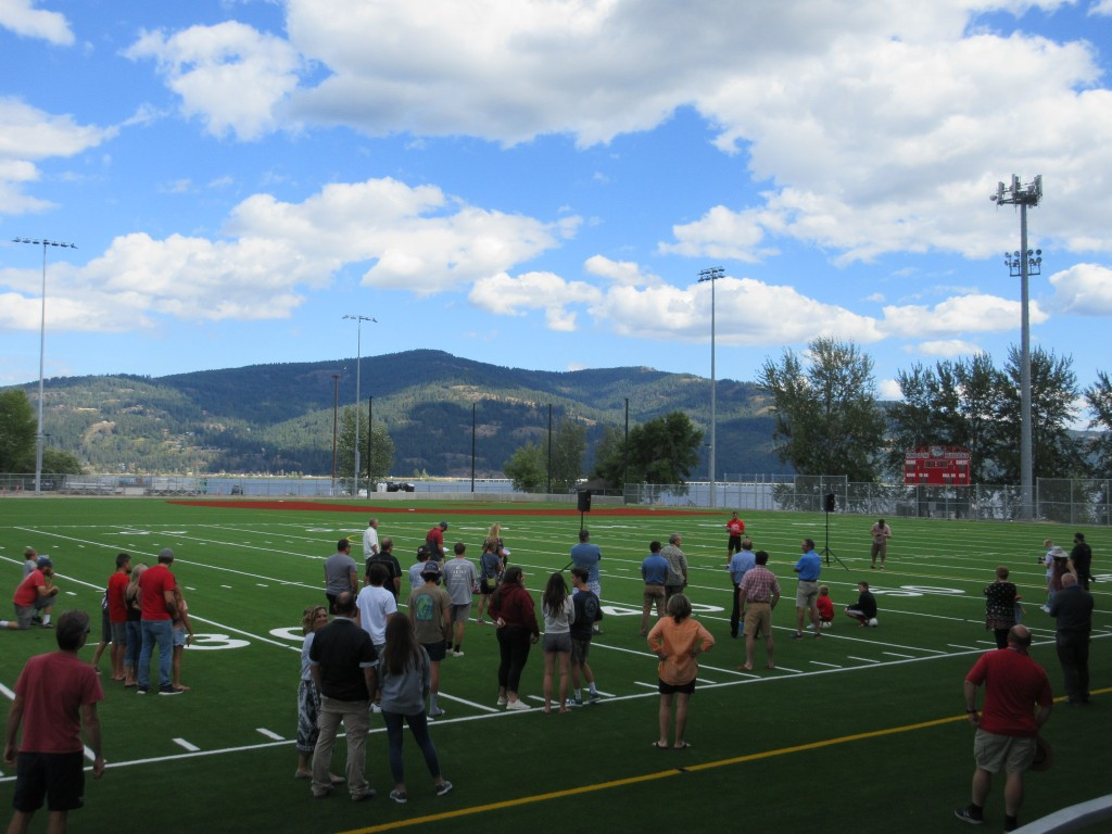 Sandpoint high school's brand new War Memorial Field