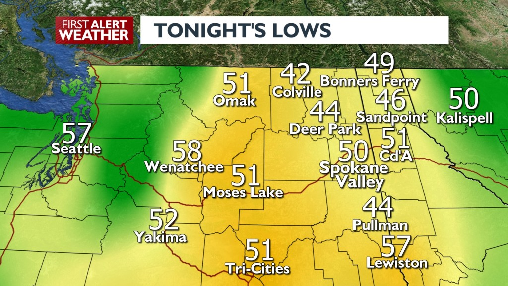 Tonight's Lows