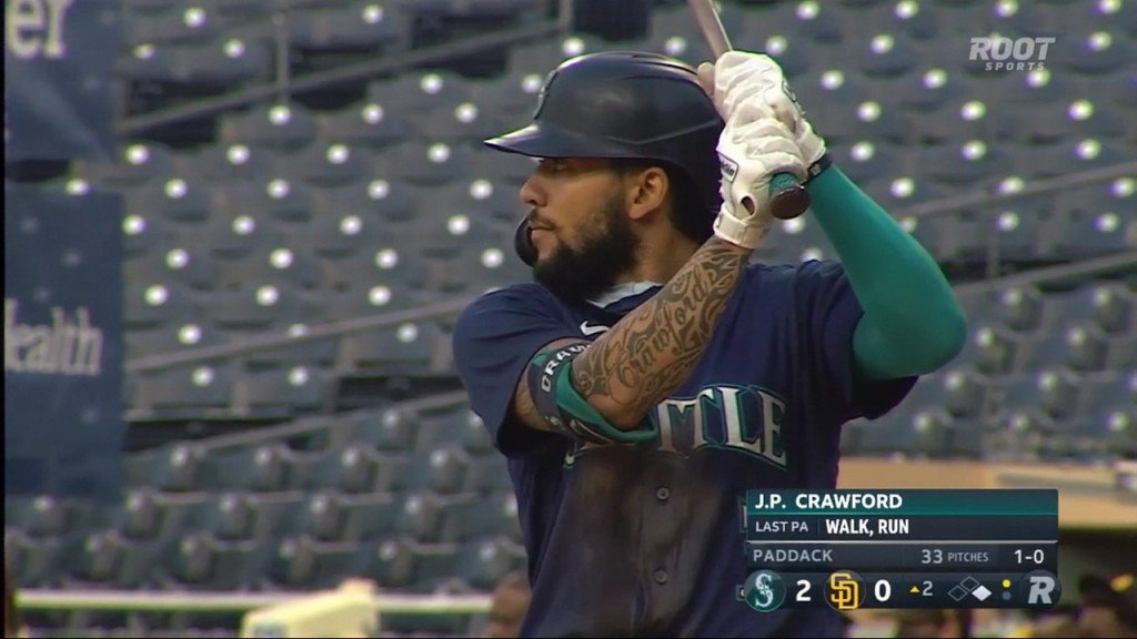 J.P. Crawford's 3 RBIS's help the Mariners to their fourth-straight win