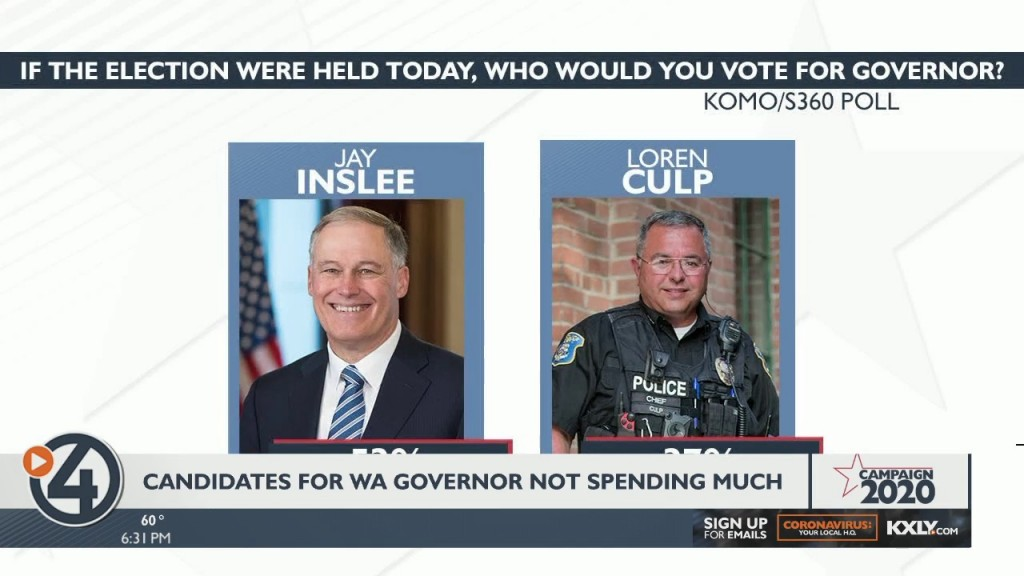 Candidates For Wa Governor Not Spending Much