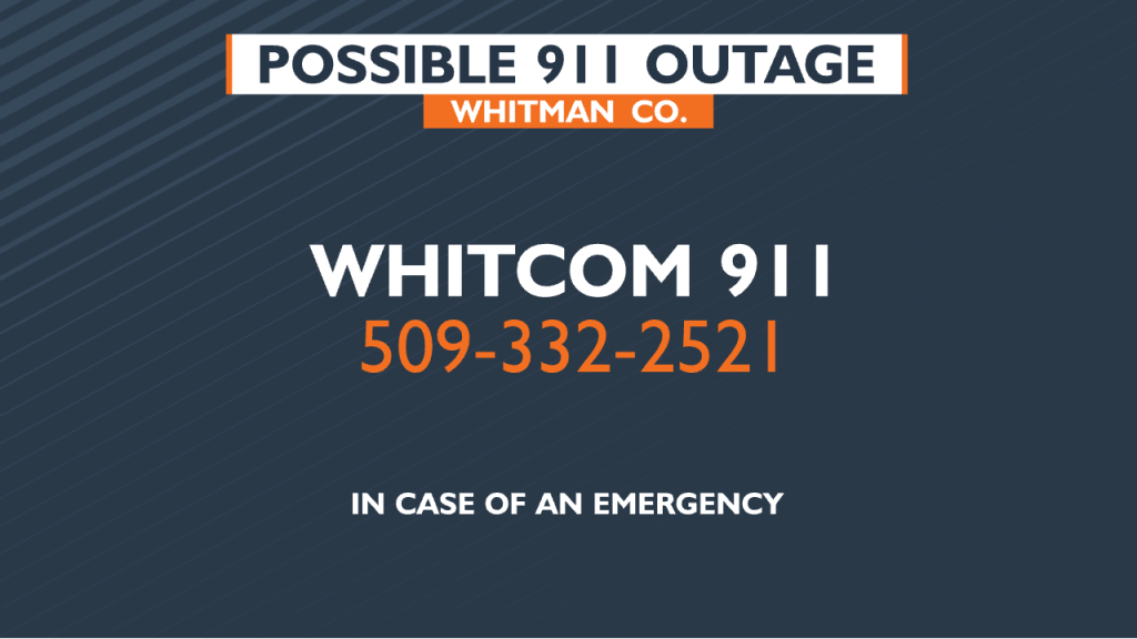 911 OUTAGE -WHITMAN CO