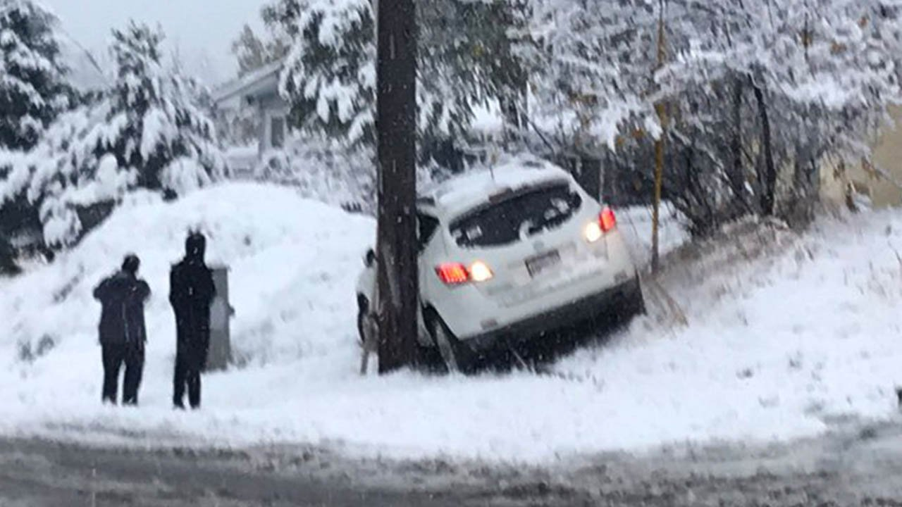Spokane Police respond to at least 66 crashes in first day of fall snowstorm