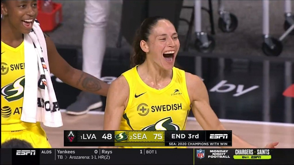 The Seattle Storm win their 4th WNBA championship by sweeping the Las Vegas Aces