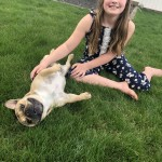Sydney With Her Dog