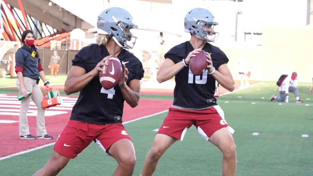 The Washington State Cougars opened up fall football camp Friday afternoon in Pullman