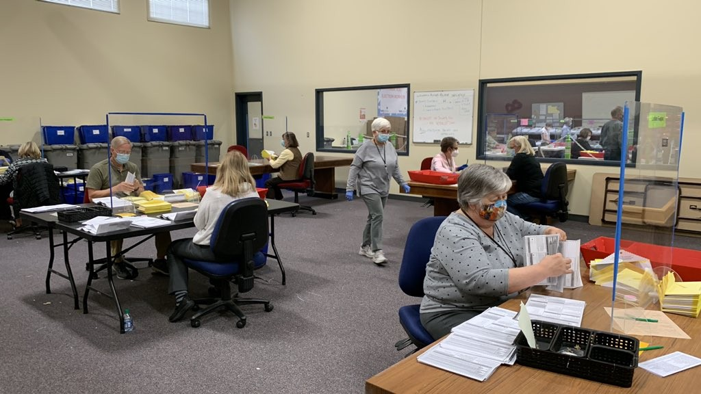 Spokane County Elections Office Counting Votes