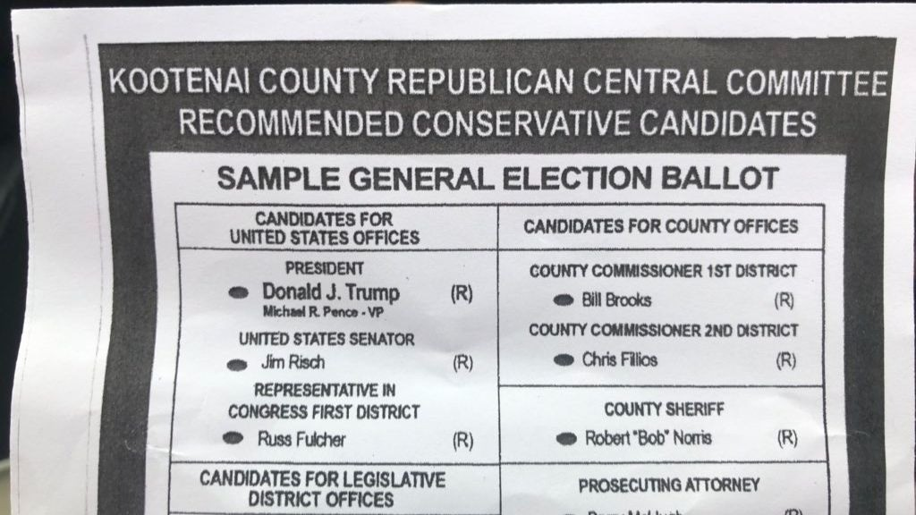Republican Sample Ballots