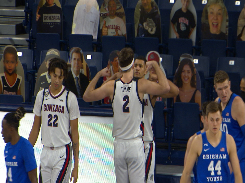 Gonzaga celebrates another win over BYU