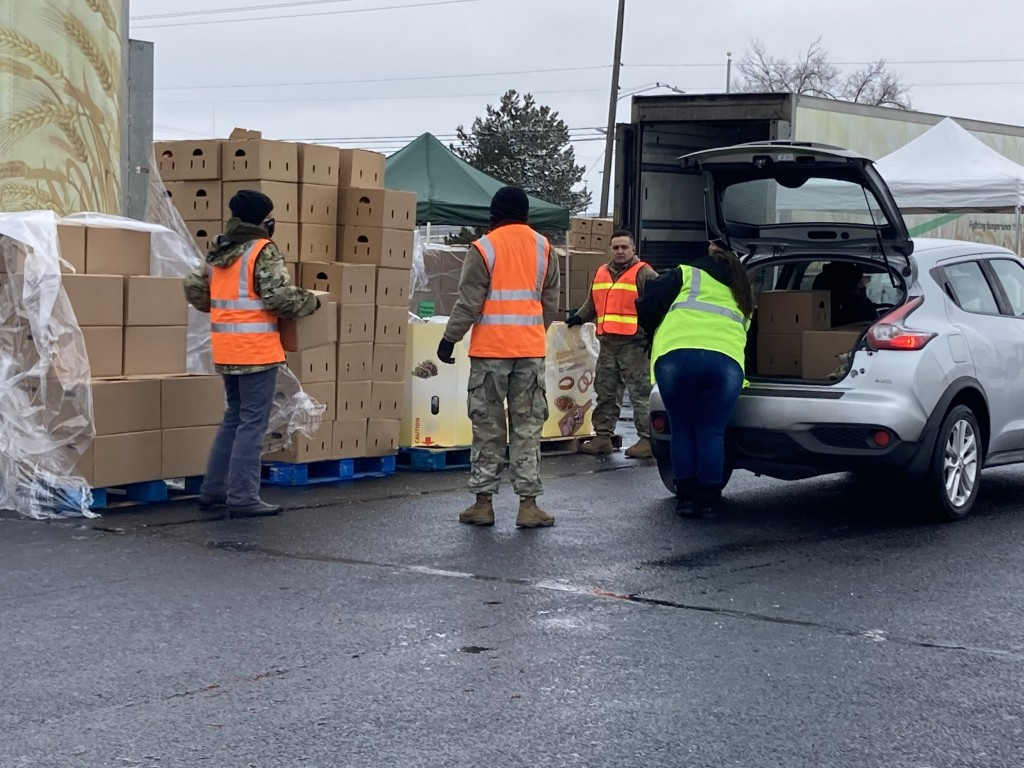Second Harvest partners with WA National Guard to combat food insecurity.