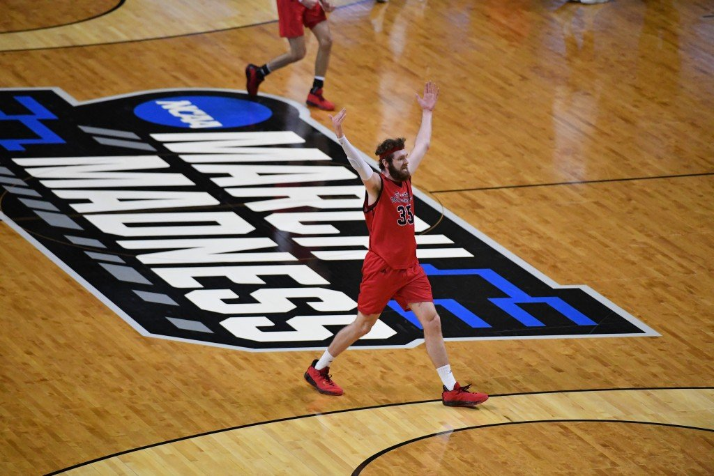 The Eastern Eagles taking on Kansas in the first round of the NCAA tournament