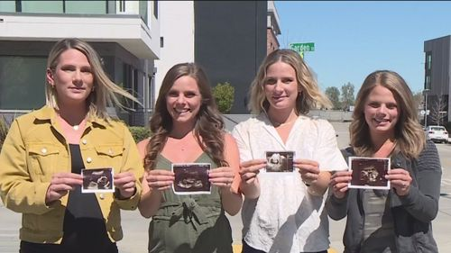 Four Sisters Expecting To Give Birth Within Months Of Each Other