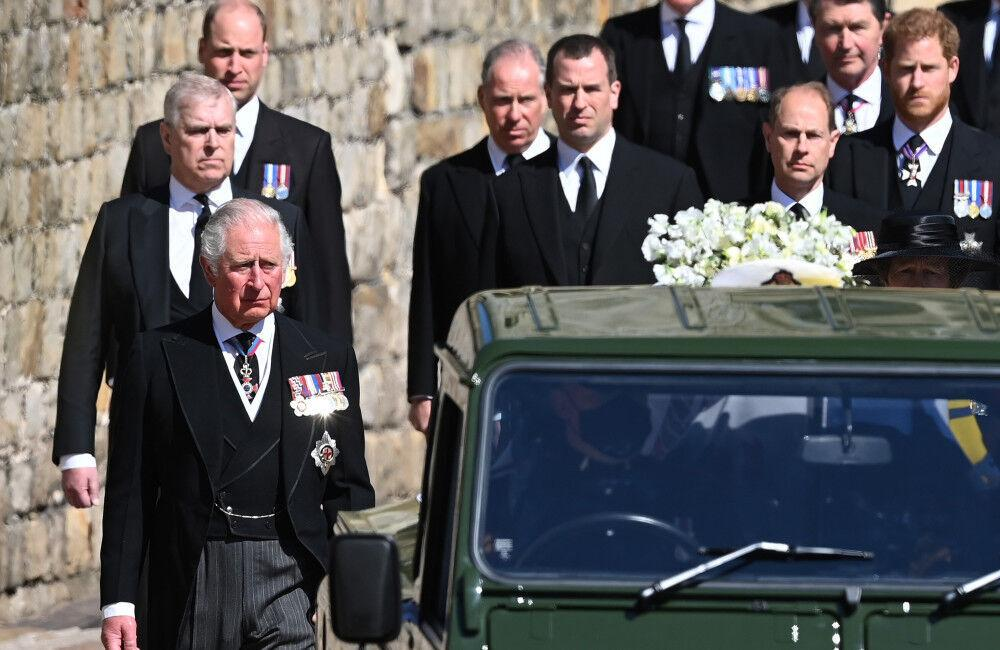 Princes William And Harry Sit Opposite Each Other At Prince Philip's Funeral