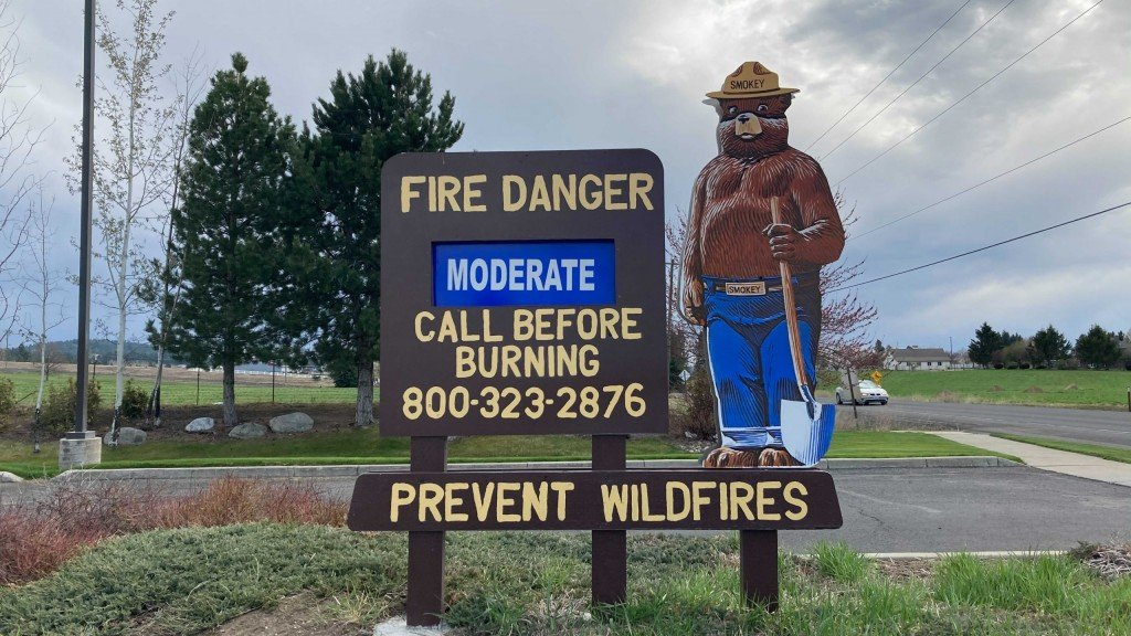 Wildfires Spokane April 22 2021