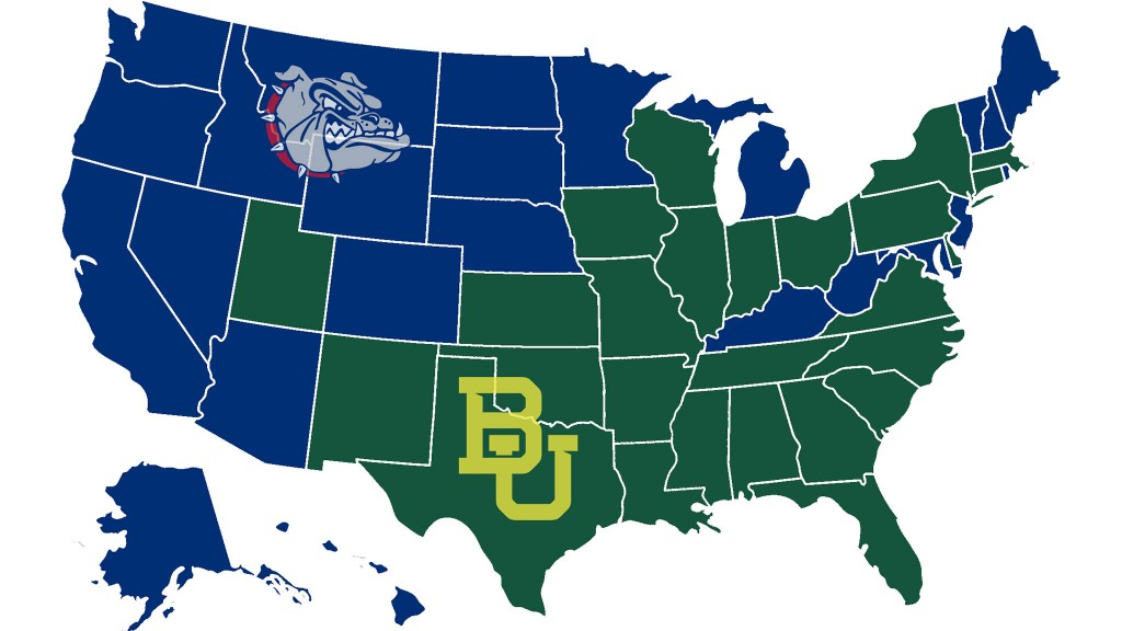 Gonzaga Vs Baylor Map