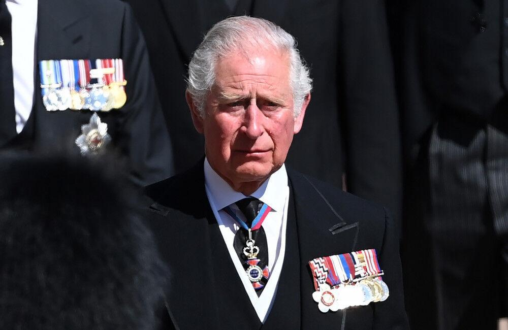 Prince Charles And Senior Royals Sombre During Prince Philip's Funeral Procession
