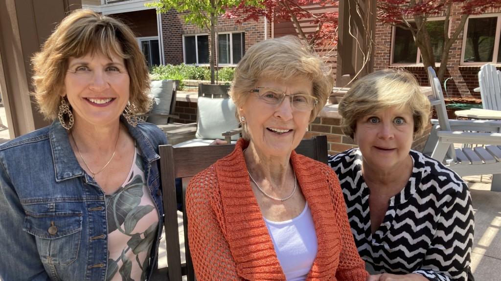 Families celebrate Mother's Day together.