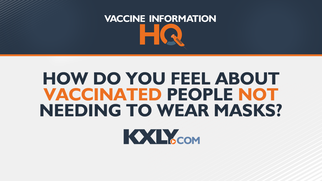 how do you feel about vaccinted people not needing to wear masks?
