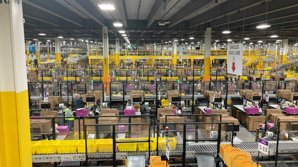Amazon invests in workplace safety.