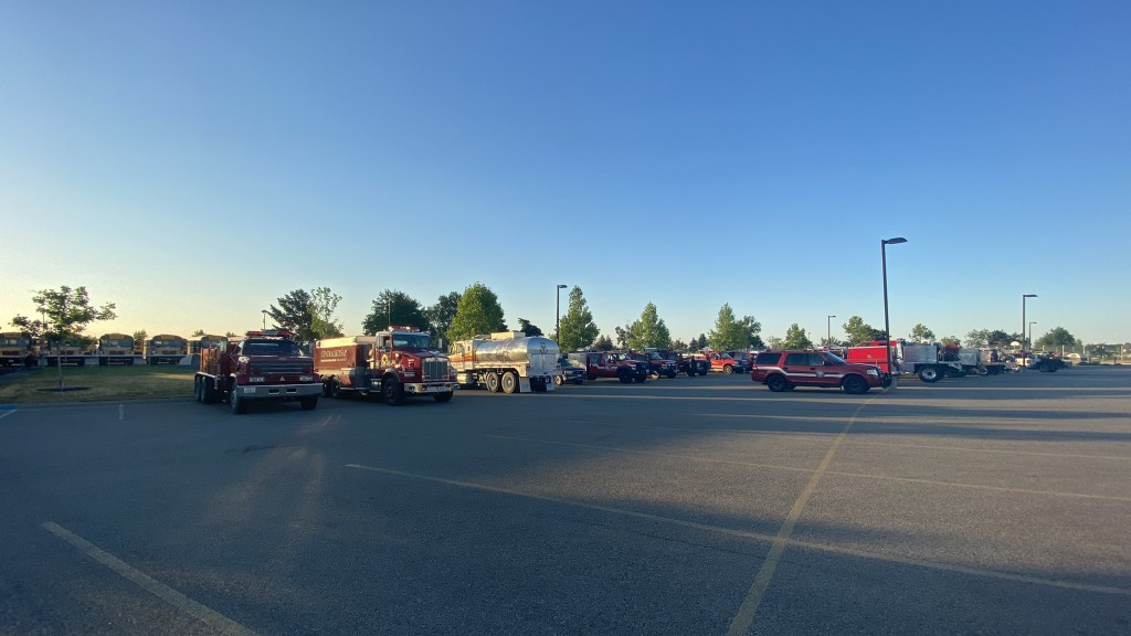 Fire crews from across the state help fight Andrus Fire