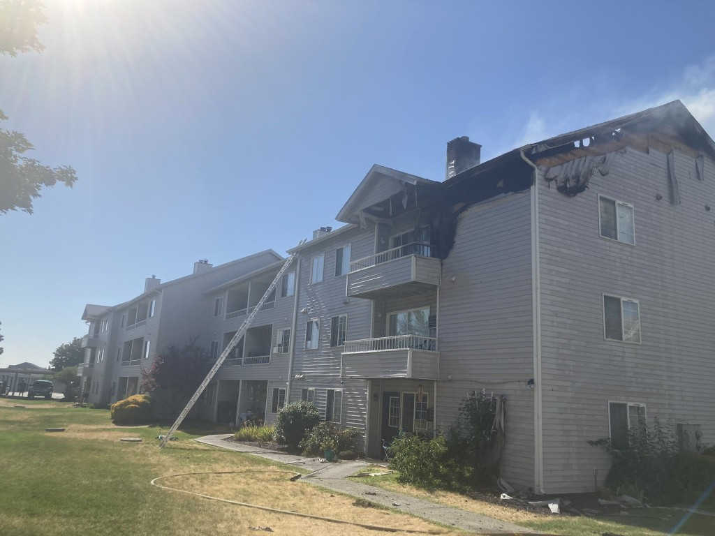 Families have to find a new home after a fire tears through an apartment.