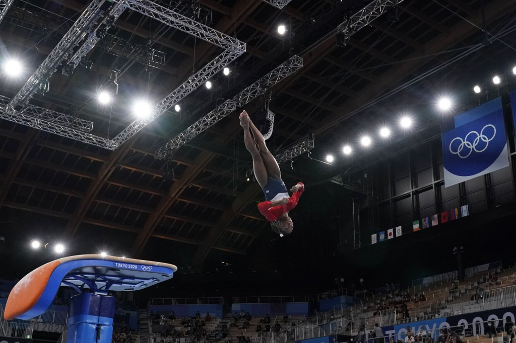 Simone Biles Out Of Olympic Team Finals With Apparent Injury