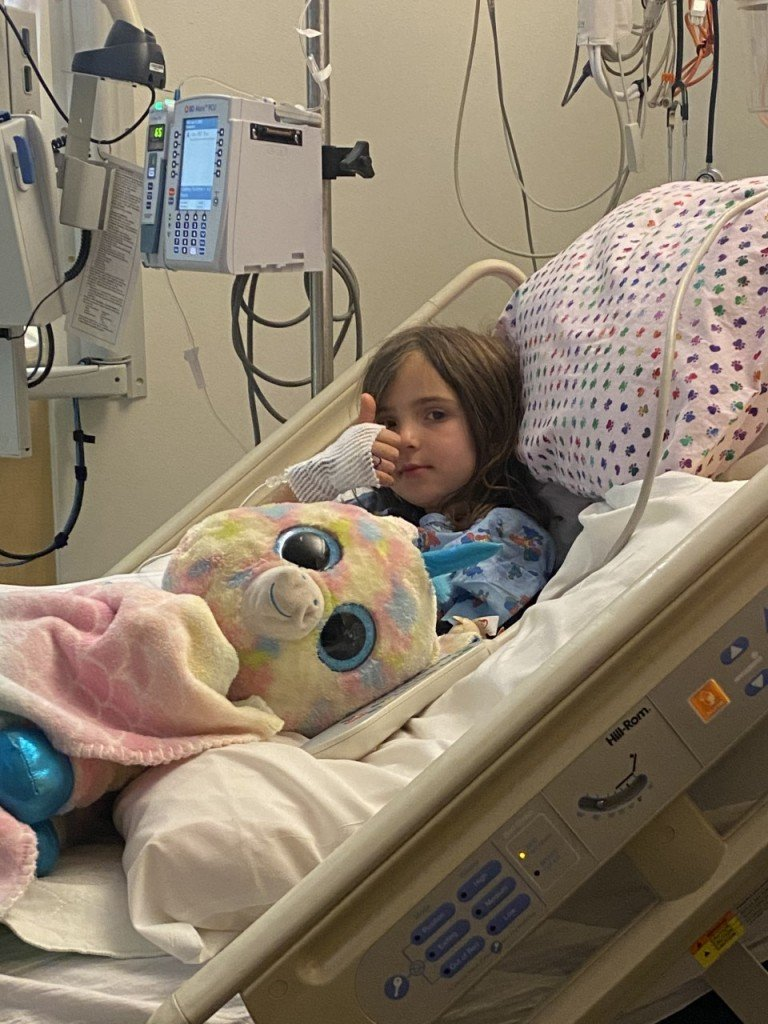 Reagan Riddle, a patient at Sacred Heart Children's Hospital