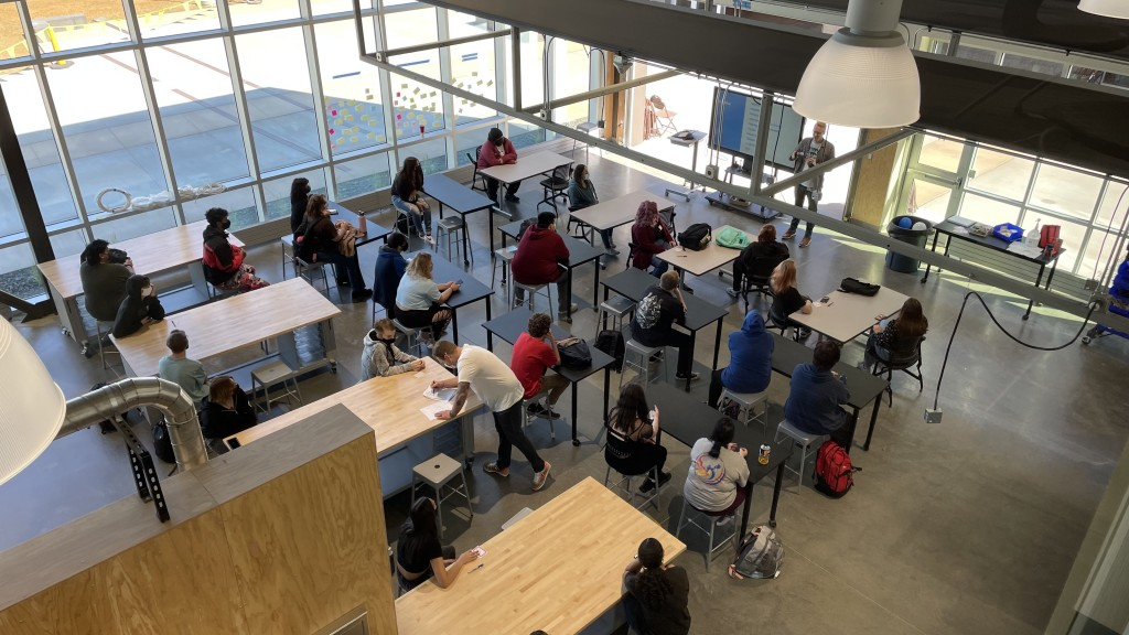 On Track Academy Students Learn In First Day Of School
