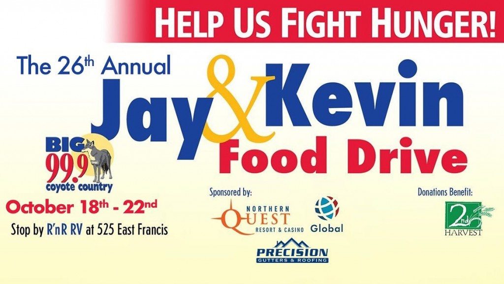 Coyote Country's Jay and Kevin kick off 26th annual food drive