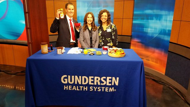 Gundersen cooking segment: tasty fruit and veggie dips