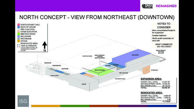 Three options for La Crosse Center expansion project revealed to public