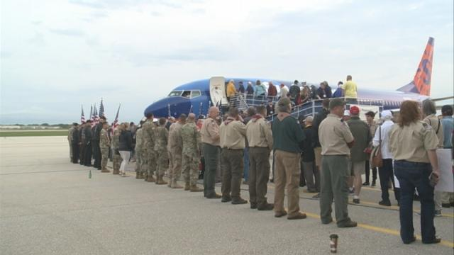 Nearly 100 area veterans tour nation's capital through 23rd Freedom Honor Flight