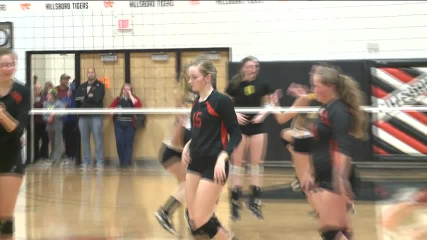 Hillsboro volleyball takes down Royall in sectionals