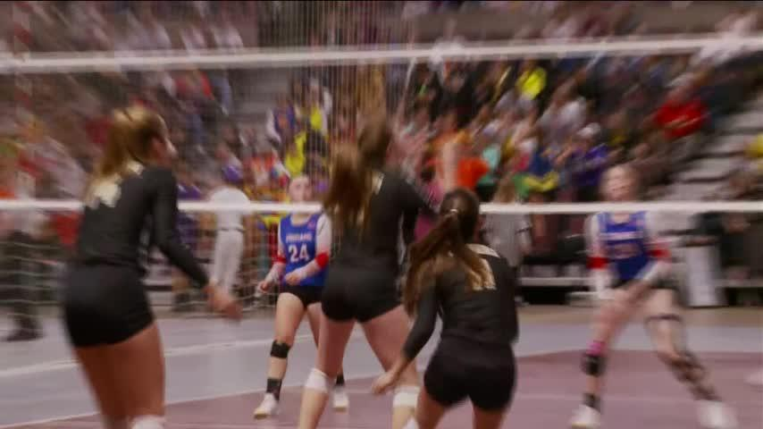 Mabel-Canton volleyball rallies to win four-set thriller over Caledonia