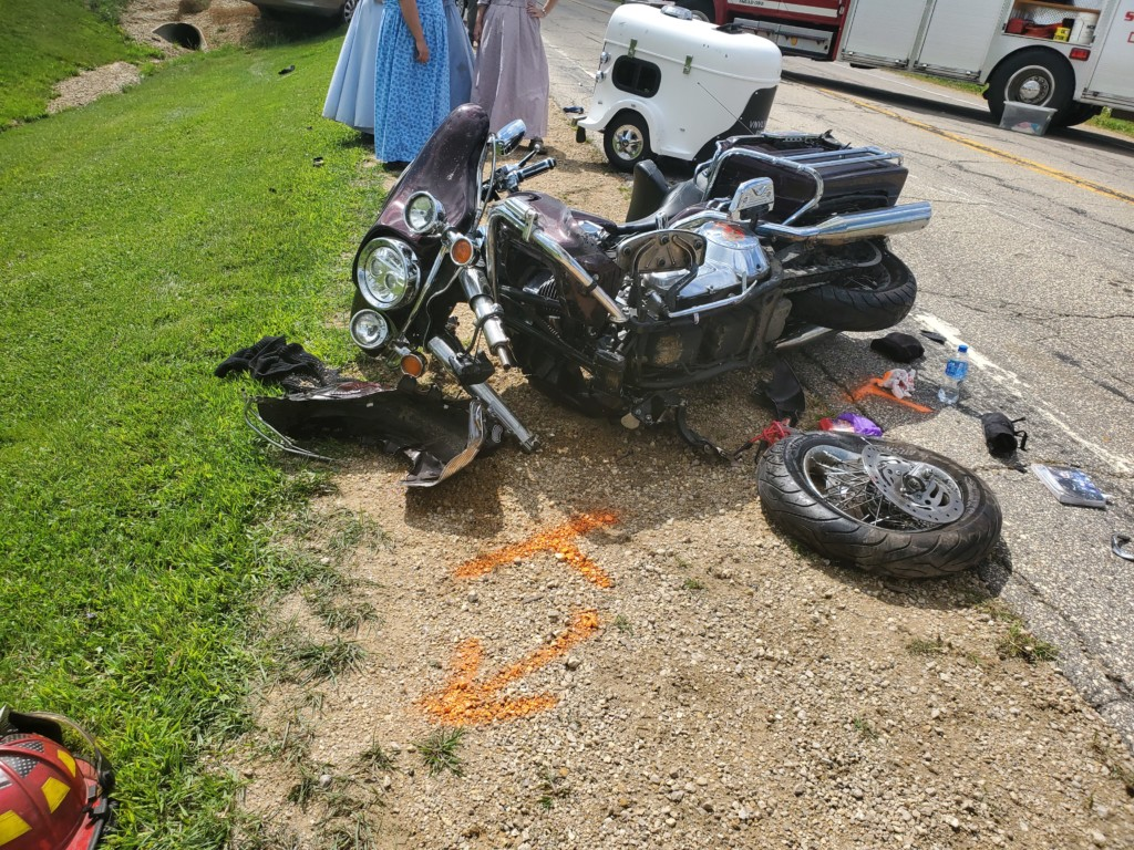 Two motorcyclists, dog injured in Vernon County crash